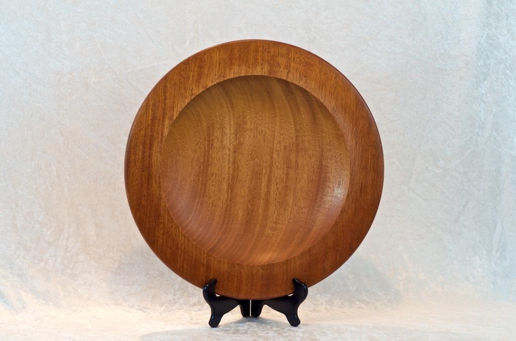 Mahogany platter by Don Hart