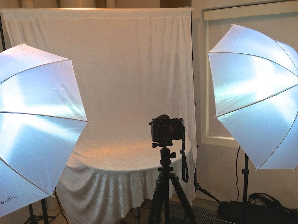 Make-shift studio...