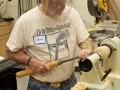 Steve Childers demonstates hollow ornaments...
