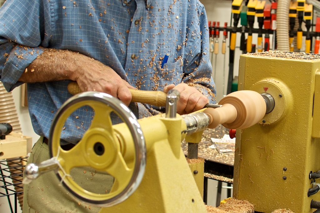 Turning a mallet