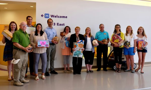 Charities donate items for hospitalized children